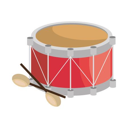 drumming: drum instrument musical icon vector illustration design