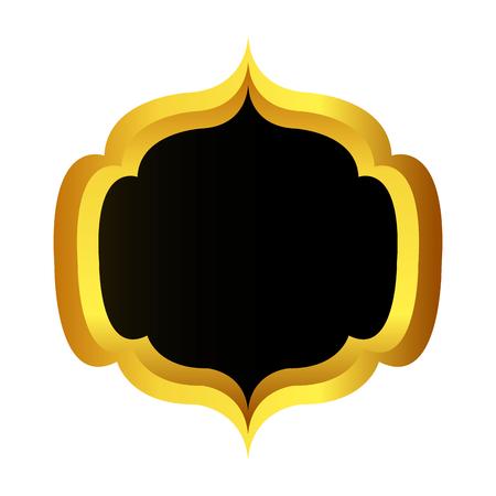 golden Quality seal guaranteed icon vector illustration design Illustration