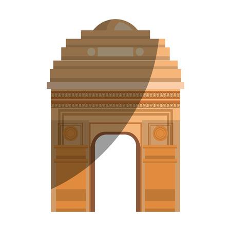 triumphal: triumph arch france icon vector illustration design