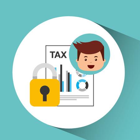 convenient: business man secure money tax megaphone vector illustration eps 10