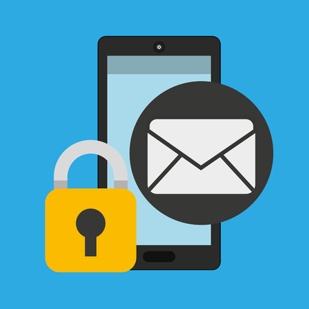 smartphone email message security vector illustration eps 10