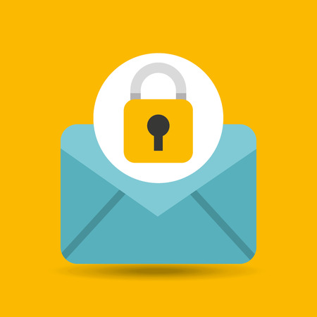 holds: hand holds email security icon vector illustration eps 10