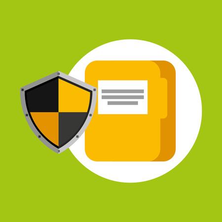 security concept hand with folder vector illustration eps 10 Illustration