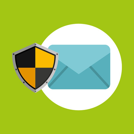 security concept hand with email vector illustration eps 10 Illustration
