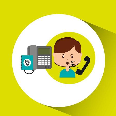 woman customer complaints call center vector illustration eps 10 Illustration