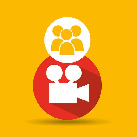 bandwidth: social media group film design vector illustration eps 10 Illustration