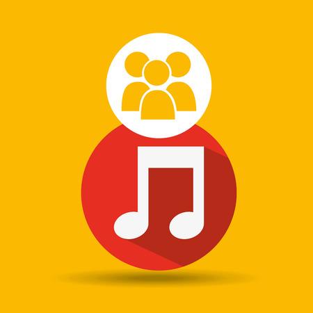 camera phone: social media group music design vector illustration eps 10