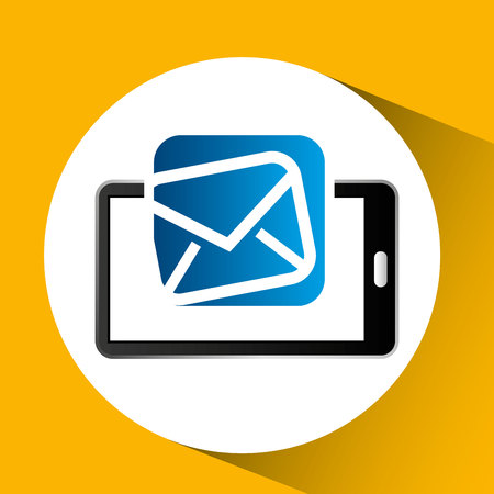 mobile phone icon email social media vector illustration eps 10