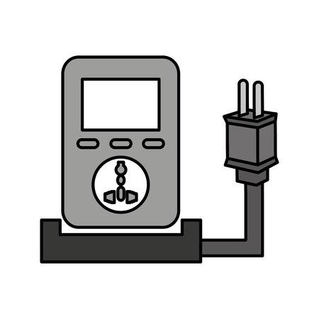 unplug: plug energy isolated icon vector illustration design