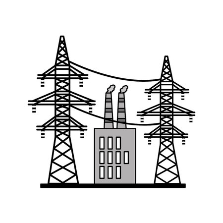 electrical tower: energy tower isolated icon vector illustration design Illustration