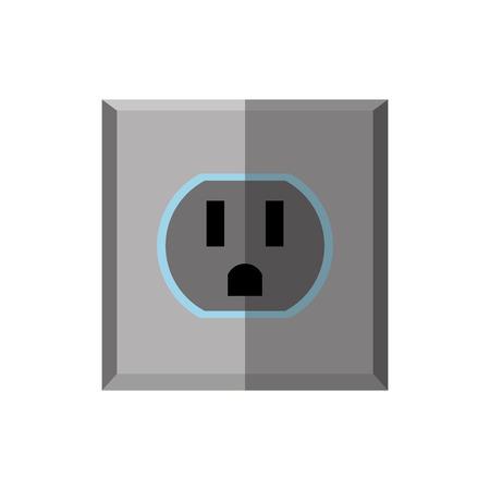 unplug: socket energy isolated icon vector illustration design