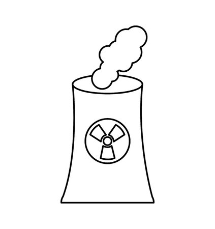caution chemistry: nuclear energy symbol isolated icon vector illustration design