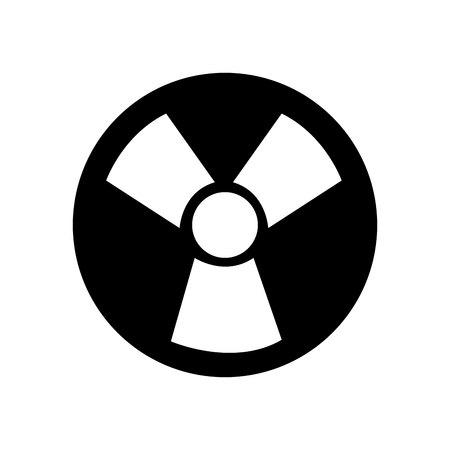 radiative: nuclear energy symbol isolated icon vector illustration design