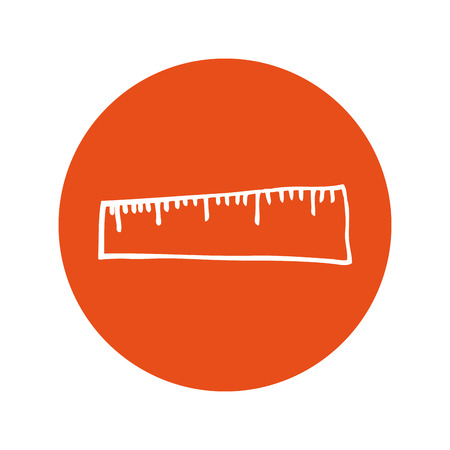 millimeters: rule school supply icon vector illustration design Illustration