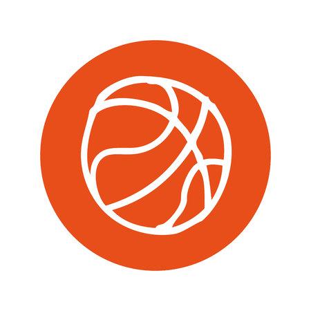 balon de basketball: basketball balloon isolated icon vector illustration design Vectores