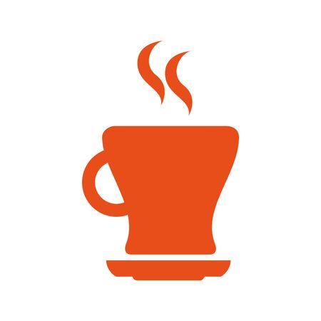 delicious coffee cup flat icon vector illustration design Illustration