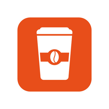 nutritional: delicious coffee glass icon vector illustration design