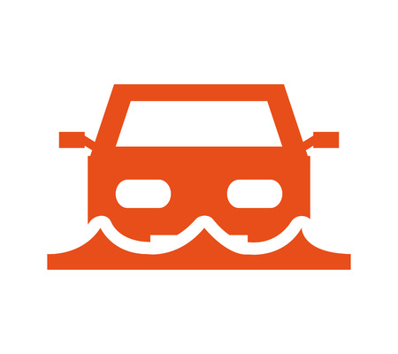 car insurance service isolated icon vector illustration design Illustration