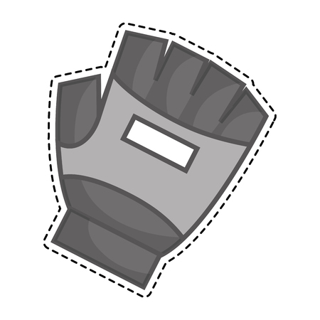 accessory: glove protection gym accessory vector illustration design Illustration