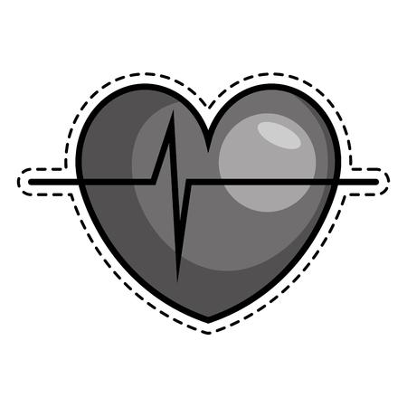 cardio: heart cardio isolated icon vector illustration design