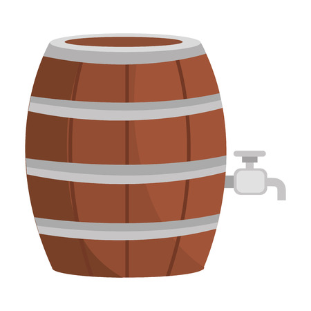barrell: beer wooden barrel icon vector illustration design