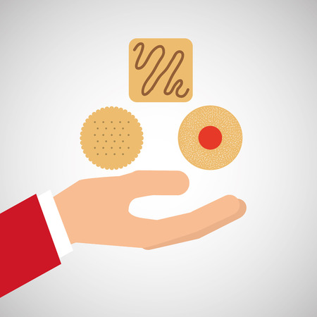 bakery cooking hand delicious cookies vector illustration eps 10