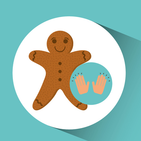 baked goods: gingerbread man dessert concept vector illustration Illustration