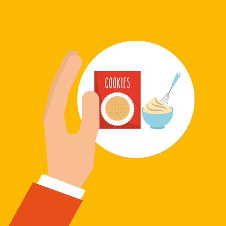 bakery cooking hand cookie mix vector illustration eps 10
