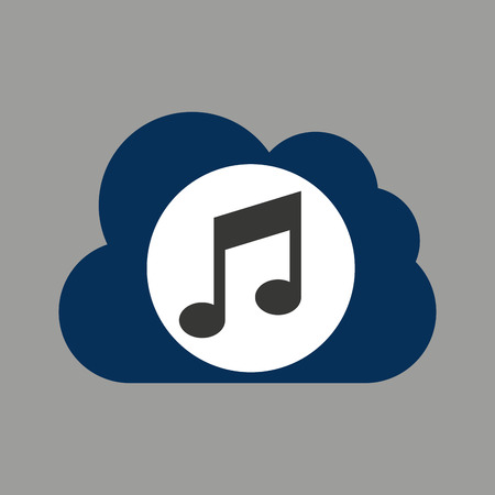 music design silhouette   and musical note vector illustration