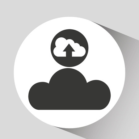 airplay: upload cloud sound graphic vector illustration