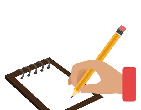writing in notebook school isolated icon vector illustration design Illustration