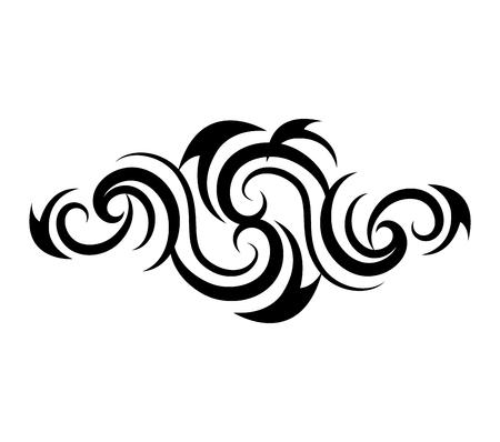tribale tatto icona design etnico vettoriale Vettoriali
