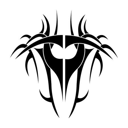 tribale tatto icona design etnico vettoriale