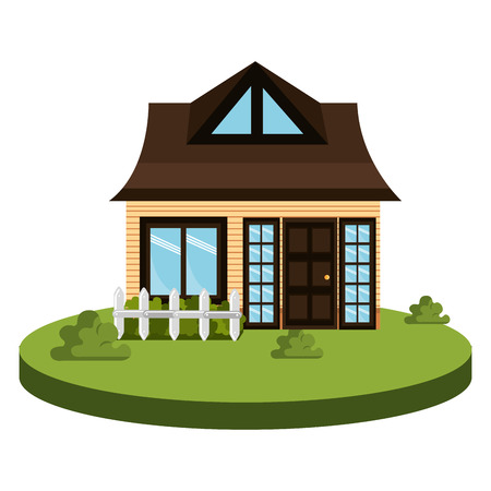 beautiful house exterior icon vector illustration design Stock Photo