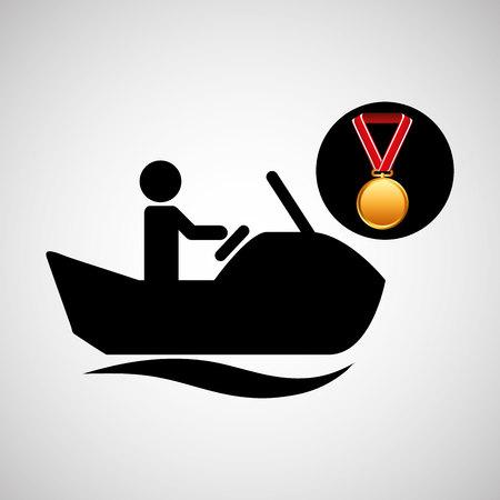 jet ski medal sport extreme graphic vector illustration eps 10 Illustration