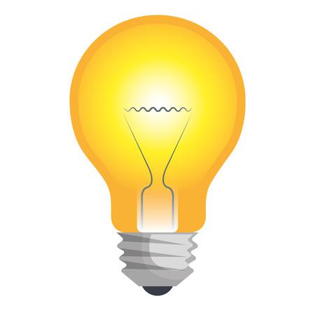 bulb light emblem isolated icon vector illustration design Illustration