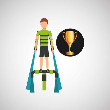 man extreme sport tophy icon vector illustration eps 10