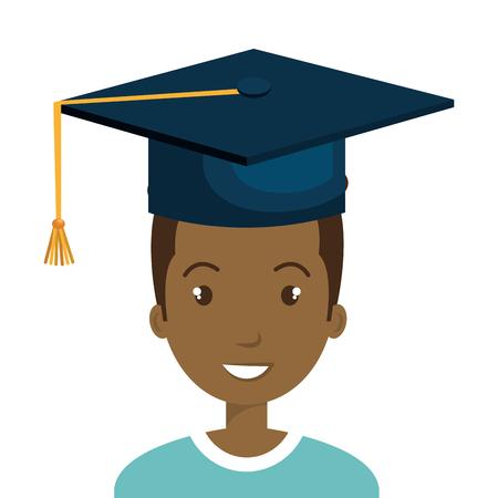 student graduate avatar icon vector illustration design Illustration