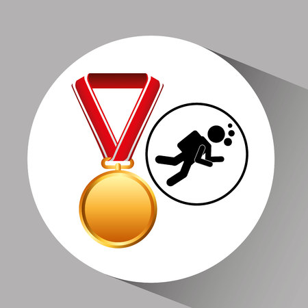 diving medal sport extreme graphic vector illustration eps 10
