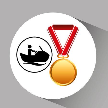 jet ski medal sport extreme graphic vector illustration eps 10 Stock Vector - 66751953