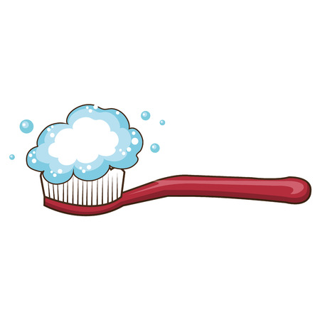 dental brush isolated icon vector illustration design