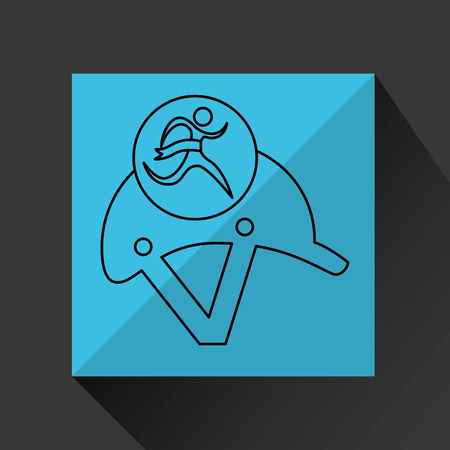 ridding: winner silhouette sport horse ridding helmet vector illustration eps 10