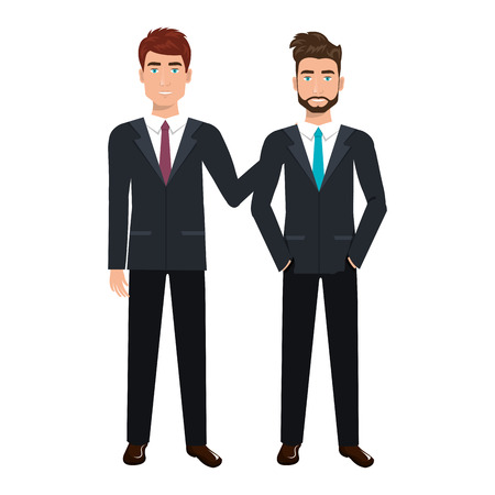 businesspeople characters avatars isolated vector illustration design Illustration