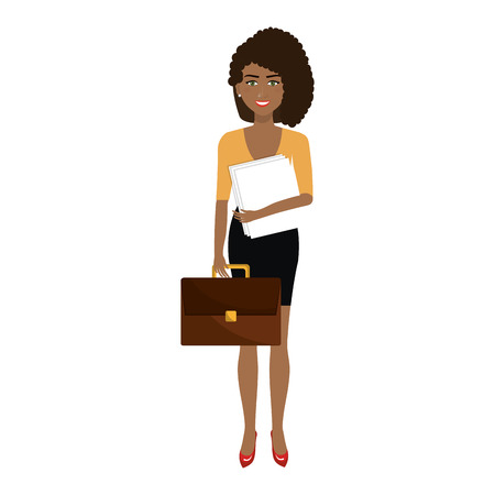 businesswoman character avatar isolated vector illustration design