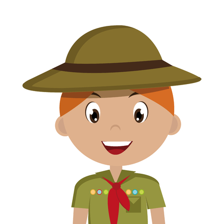 little scout character icon vector illustration design