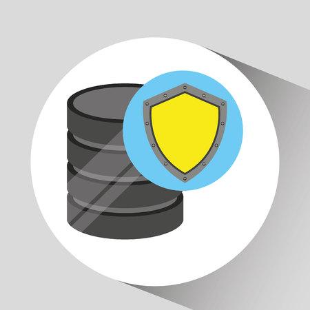 shiled: hand holds data shiled protection icon vector illustration eps 10