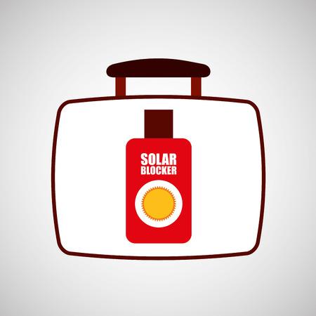 sun cream: travel concept sun cream protection vector illustration eps 10 Illustration