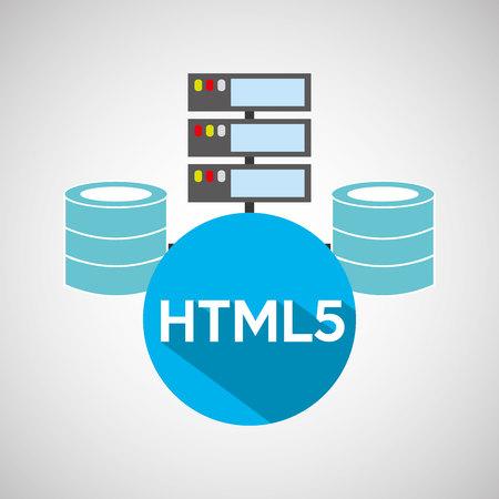 meta: html5 language data base storage vector illustration Illustration