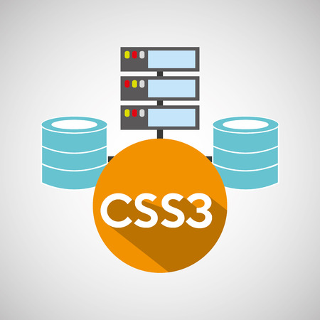 css3: css3 language data base storage vector illustration Illustration