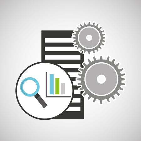 optimized: database setting statistical optimized icon vector illustration